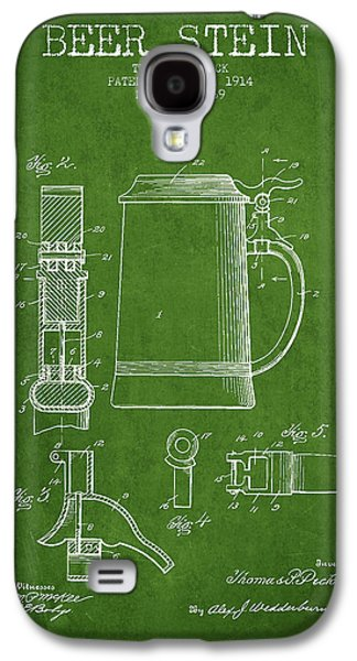 Beer Stein Patent From 1914 - Green Galaxy S4 Case by Aged Pixel