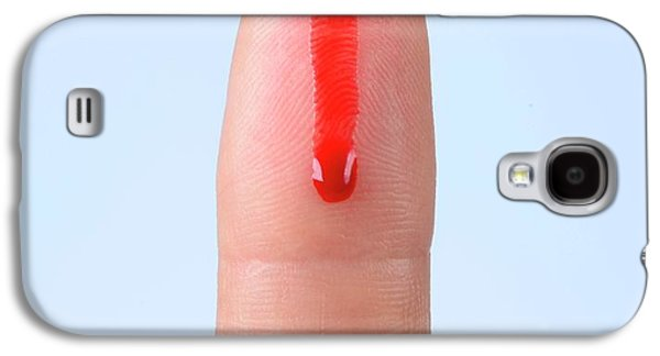 Blood Droplet On Finger Galaxy S4 Case