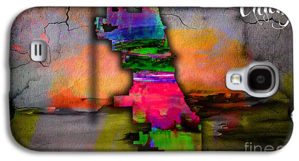 Chicago Map Watercolor Galaxy S4 Case by Marvin Blaine