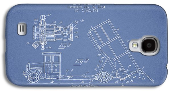 Dump Truck Patent Drawing From 1934 Galaxy S4 Case