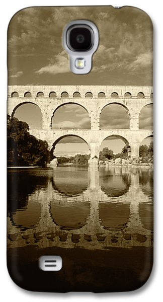 France, Languedoc, Gard, View Of Pont Galaxy S4 Case