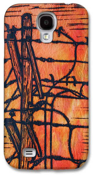 Lines And Birds Galaxy S4 Case
