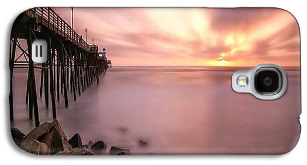 Long Exposure Sunset At The Oceanside Galaxy S4 Case by Larry Marshall