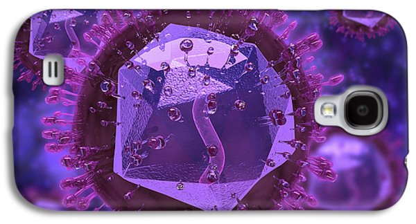 Microscopic View Of Herpes Virus Galaxy S4 Case by Stocktrek Images