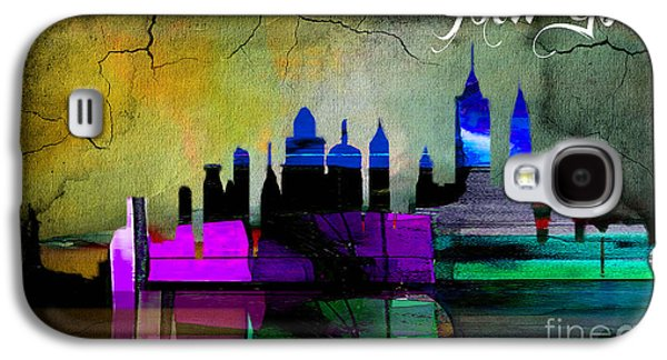 New York Skyline Watercolor Galaxy S4 Case