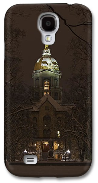 Notre Dame Golden Dome Snow Poster Galaxy S4 Case