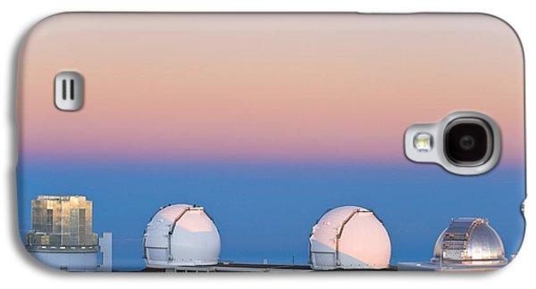 Observatories On Summit Of Mauna Kea Galaxy S4 Case by David Nunuk