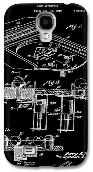 Pinball Machine Patent 1939 - Black Galaxy S4 Case by Stephen Younts