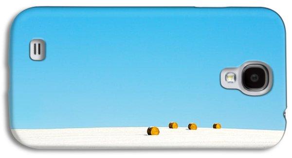 4 Round Bales Galaxy S4 Case by Todd Klassy