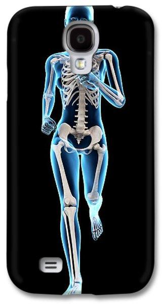 Skeletal System Of A Runner Galaxy S4 Case by Sebastian Kaulitzki