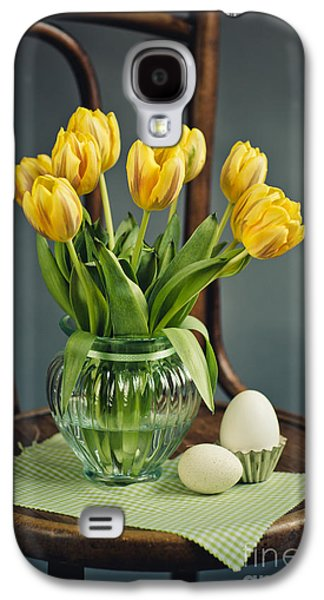 Tulip Galaxy S4 Case - Still Life With Yellow Tulips by Nailia Schwarz