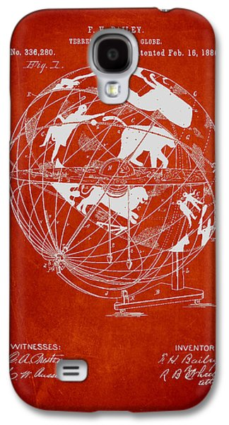 Terrestro Sidereal Globe Patent Drawing From 1886 Galaxy S4 Case by Aged Pixel
