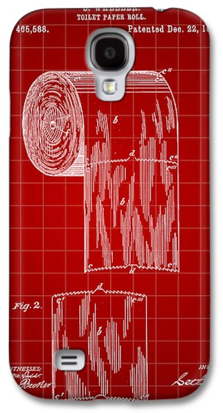 Toilet Paper Roll Patent 1891 - Red Galaxy S4 Case