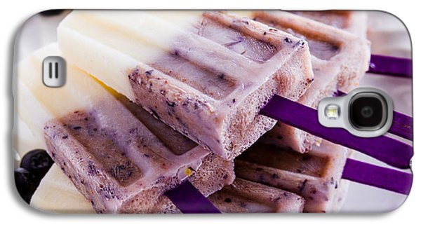 Vanilla And Blueberry Popsicles Galaxy S4 Case by Teri Virbickis