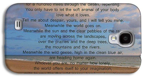 40- Wild Geese Mary Oliver Galaxy S4 Case