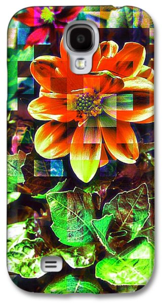 Abstract Flowers Galaxy S4 Case