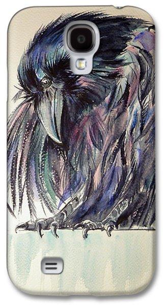 Crow Galaxy S4 Case by Kovacs Anna Brigitta