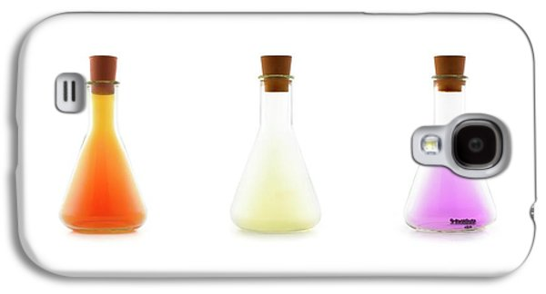 Flasks Containing Halogens Galaxy S4 Case by Science Photo Library