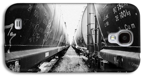freight grain trucks on former canadian pacific railway now great sandhills railway through leader S Galaxy S4 Case