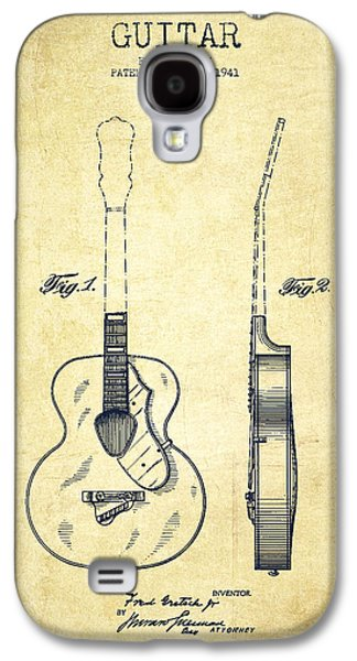 Gretsch Guitar Patent Drawing From 1941 - Vintage Galaxy S4 Case