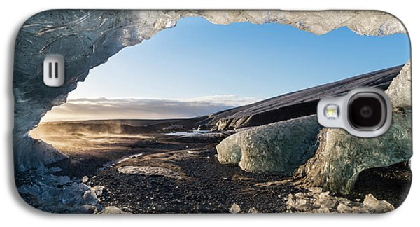 Ice Cave In The Glacier Galaxy S4 Case by Martin Zwick