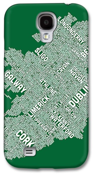 Ireland Eire City Text Map Galaxy S4 Case
