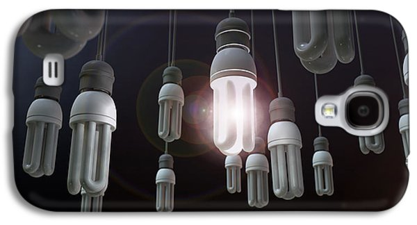 Leadership Hanging Lightbulb Galaxy S4 Case by Allan Swart