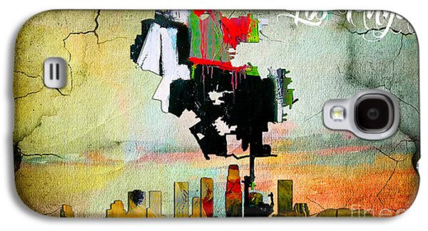 Los Angeles Map And Skyline Galaxy S4 Case by Marvin Blaine