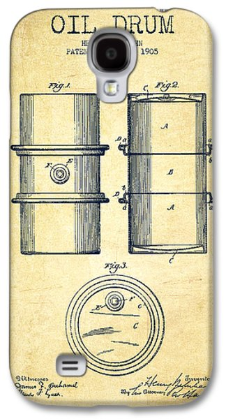 Drum Galaxy S4 Case - Oil Drum Patent Drawing From 1905 by Aged Pixel