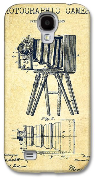 Photographic Camera Patent Drawing From 1885 Galaxy S4 Case by Aged Pixel