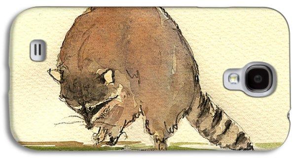 Raccoon Galaxy S4 Case by Juan  Bosco