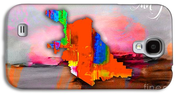 San Jose Map Watercolor Galaxy S4 Case by Marvin Blaine