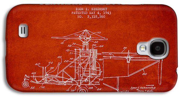 Sikorsky Helicopter Patent Drawing From 1943 Galaxy S4 Case