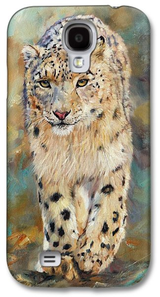 Snow Leopard Galaxy S4 Case by David Stribbling