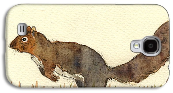 Squirrel Galaxy S4 Case - Squirrel by Juan  Bosco