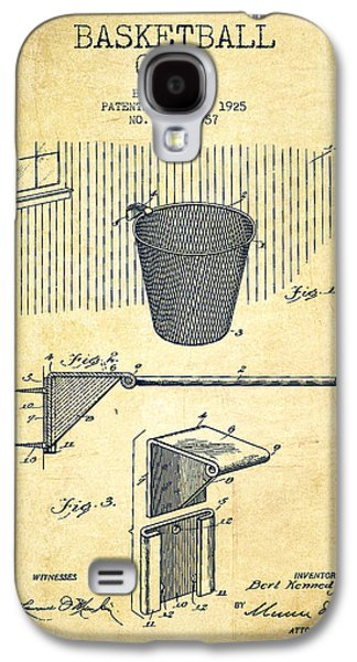 Vintage Basketball Goal Patent From 1925 Galaxy S4 Case