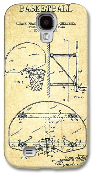 Vintage Basketball Goal Patent From 1944 Galaxy S4 Case