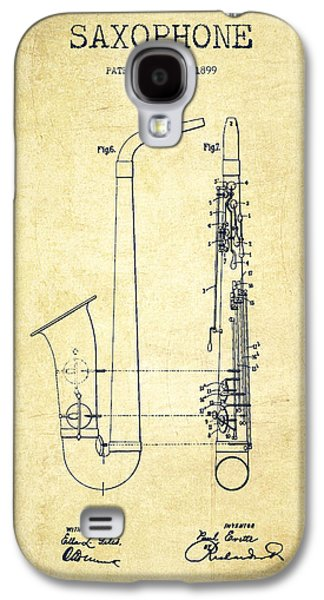 Saxophone Galaxy S4 Case - Saxophone Patent Drawing From 1899 - Vintage by Aged Pixel