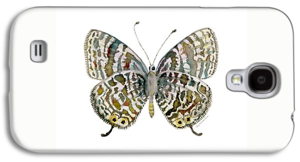 51 Lang's Short-tailed Blue Butterfly Galaxy S4 Case by Amy Kirkpatrick