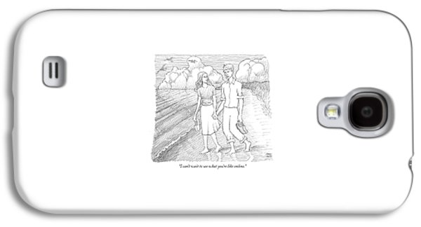 I Can't Wait To See What You're Like Online Galaxy S4 Case by Paul Noth