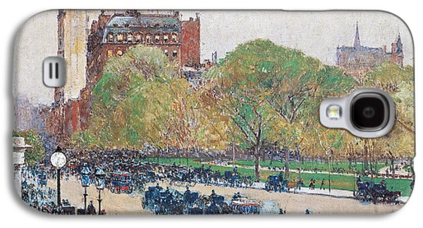 Spring Morning In The Heart Of The City Galaxy S4 Case by Childe Hassam