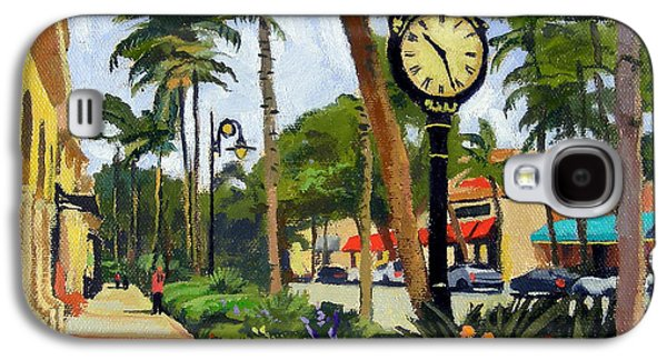 Heron Galaxy S4 Case - 5th Avenue Naples Florida by Christine Hopkins