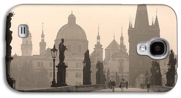 Charles Bridge Prague Czech Republic Galaxy S4 Case by Panoramic Images