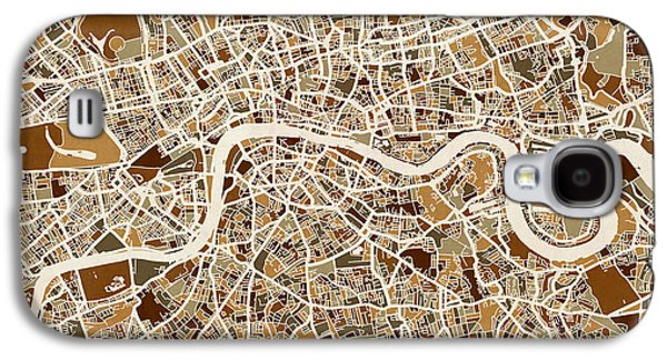 London England Street Map Galaxy S4 Case by Michael Tompsett