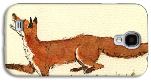 Red Fox Galaxy S4 Case by Juan  Bosco