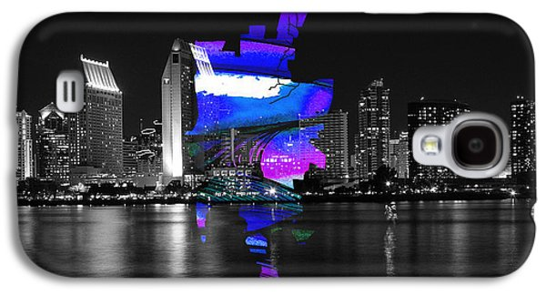 San Diego California Map And Skyline Galaxy S4 Case by Marvin Blaine