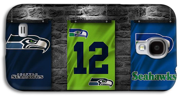 Seattle Seahawks Galaxy S4 Case by Joe Hamilton