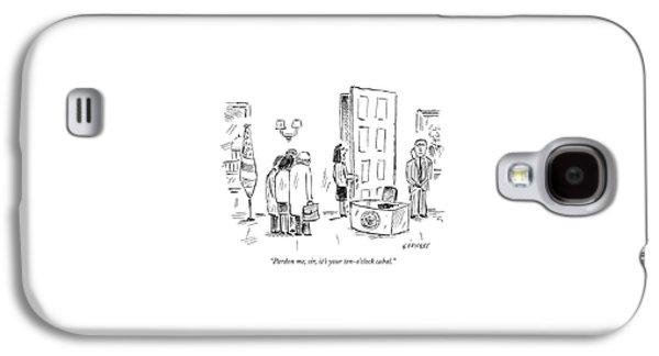 Pardon Me, Sir, It's Your Ten-o'clock Cabal Galaxy S4 Case by David Sipress