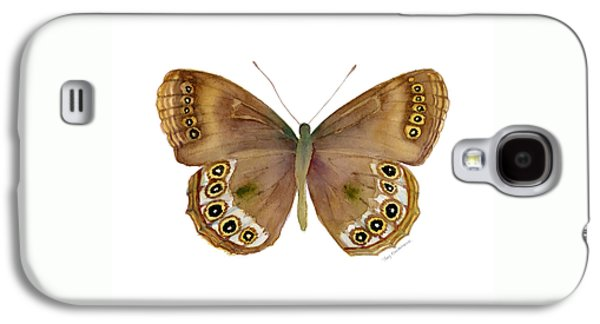 64 Woodland Brown Butterfly Galaxy S4 Case by Amy Kirkpatrick
