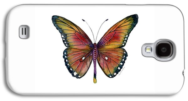 66 Spotted Wing Butterfly Galaxy S4 Case by Amy Kirkpatrick